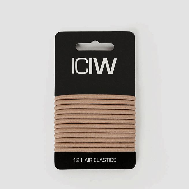 ICIW 12 Pack Sport Hair Ties Sand