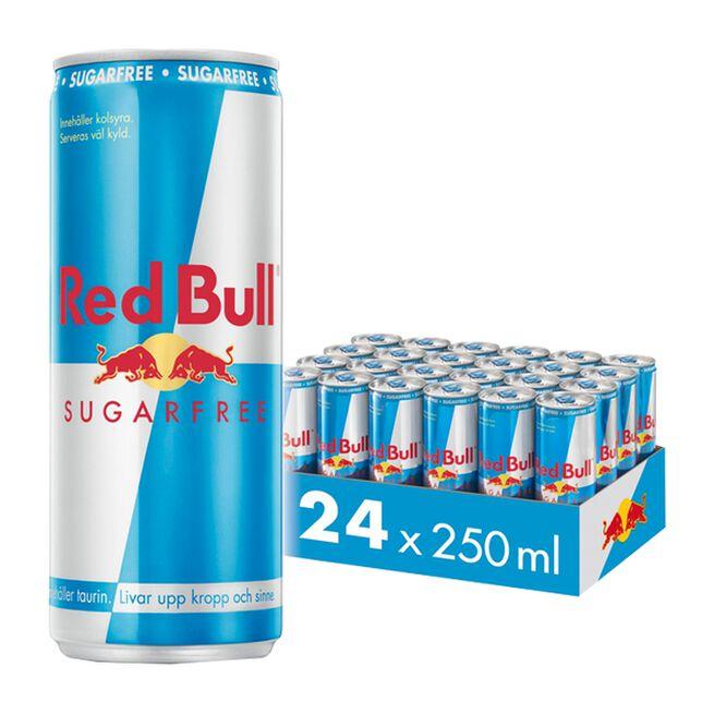 24 x Red Bull Energidryck Sockerfri, 250 ml