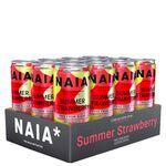 12 x NAIA* Energy Drink, 330 ml, Summer Strawberry