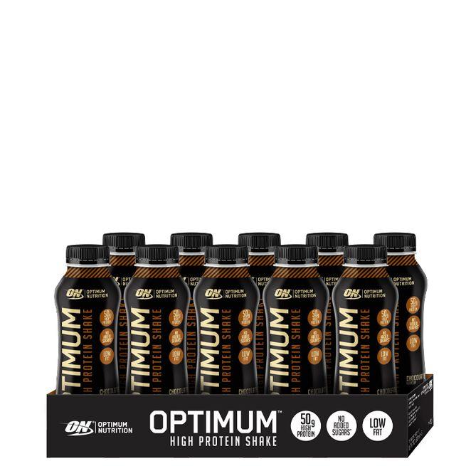 10 x Optimum High Protein Shake, 500 ml Chocolate